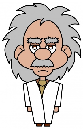 Animated Einstein Clipart.
