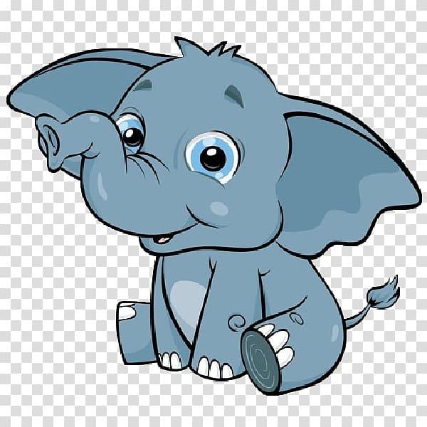 Gray elephant illustration, Cuteness Giraffe Animal.