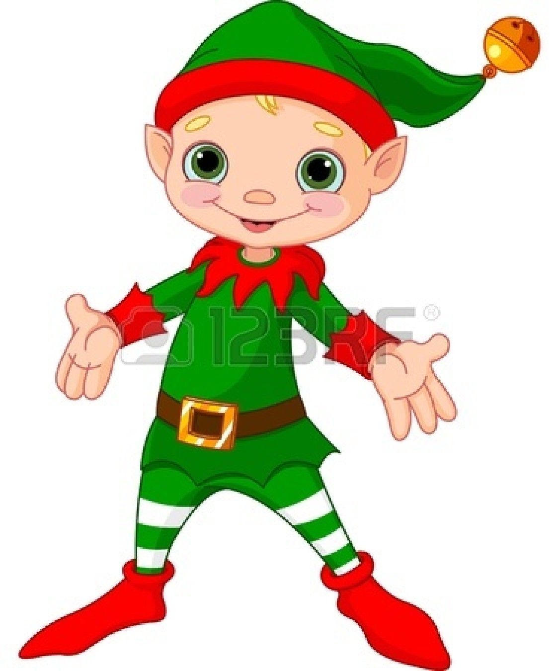 Animated elves clipart.