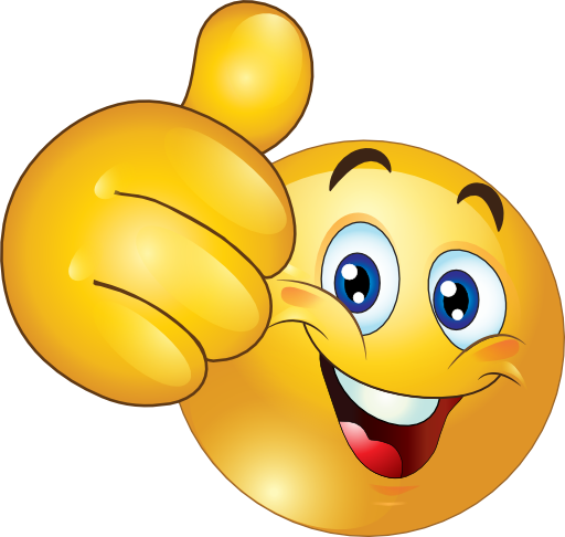 Thumbs Up Happy Smiley Emoticon Clipart Royalty Free.
