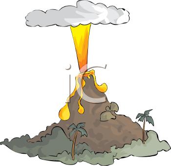 2466 Volcano free clipart.