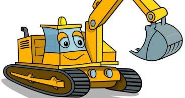 Cartoon Excavator Vector Archives.