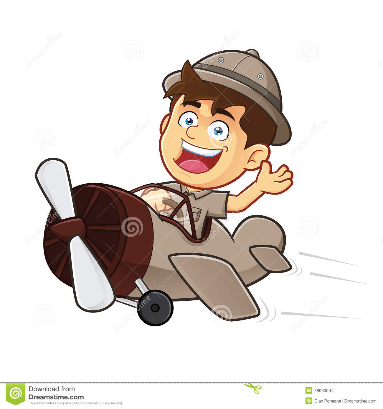 Animated Explorer Clipart.