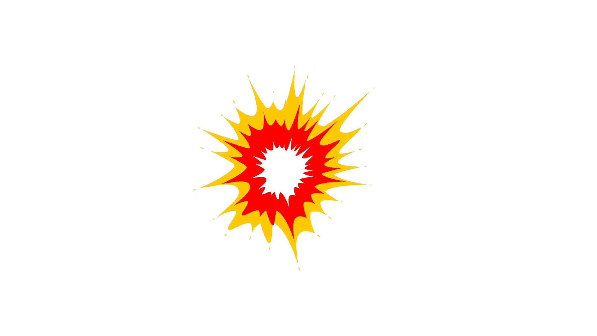 Animation of comic style explosion. Cartoon explosion Motion Background.