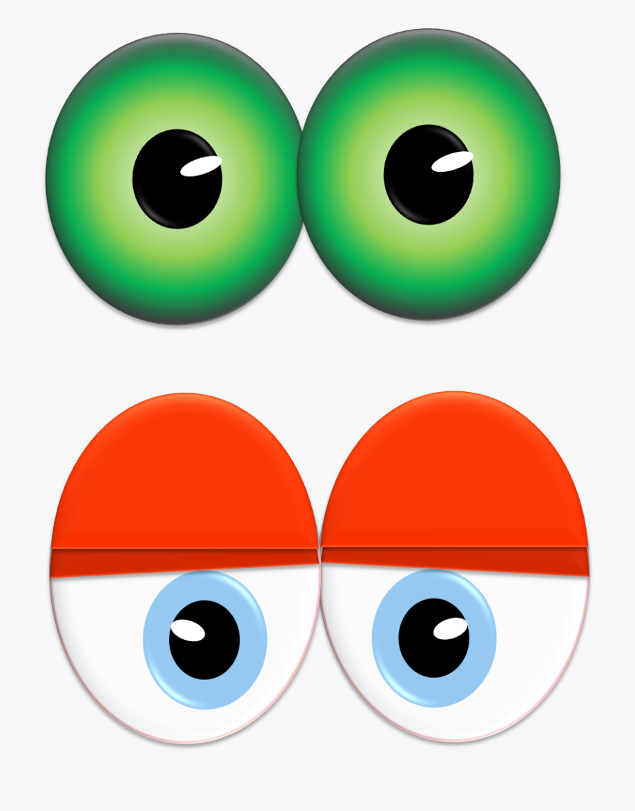 Vector Eyeball Animated Eye.