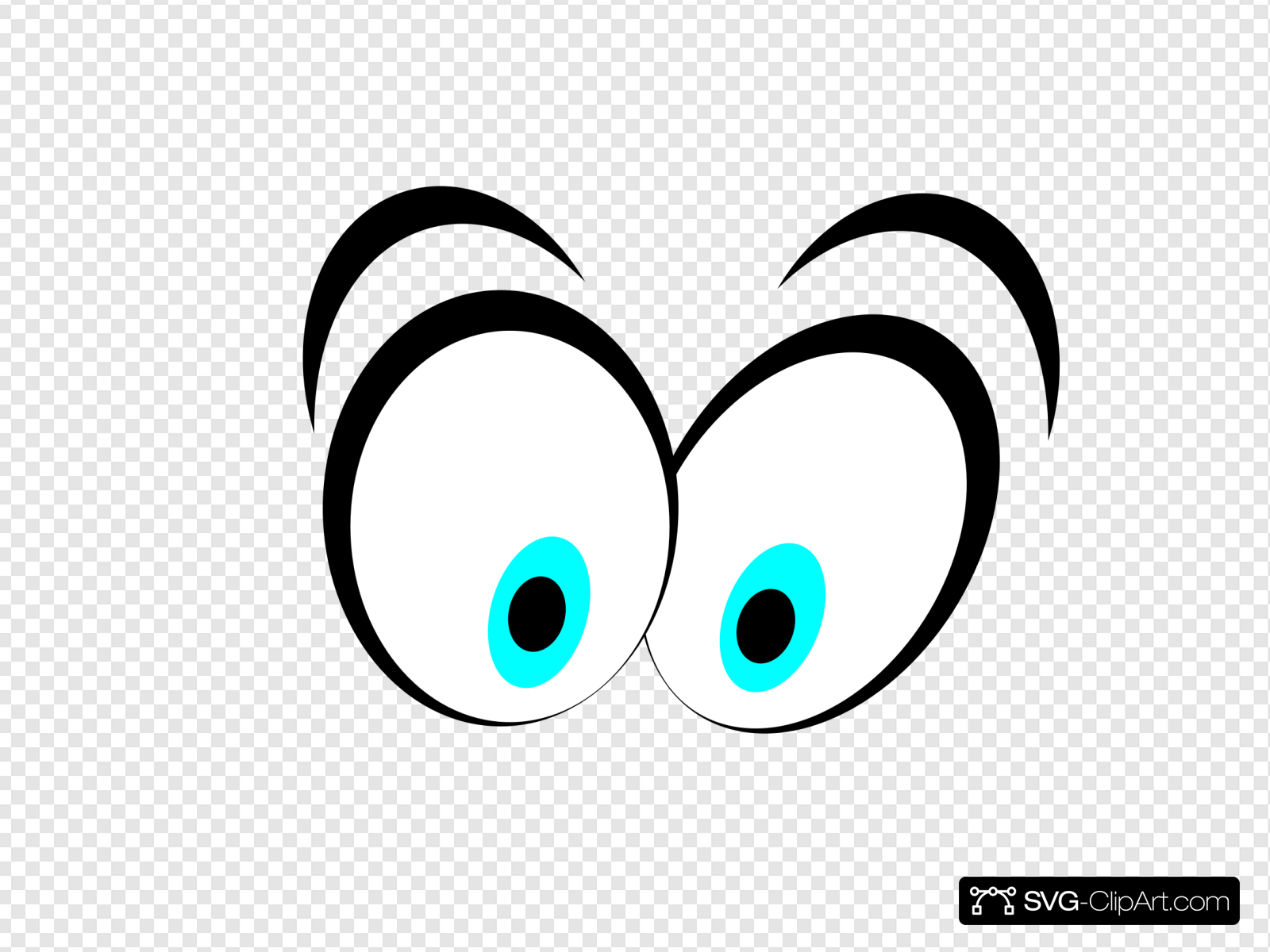 Animated Blue Cartoon Eyes Clip art, Icon and SVG.