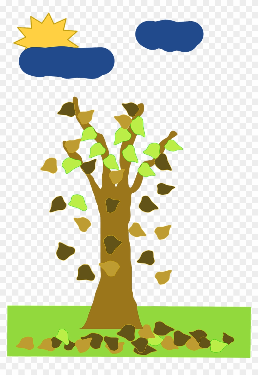 Fall, Without, Leaf, Tree, Cartoon, From, Free, Trees.