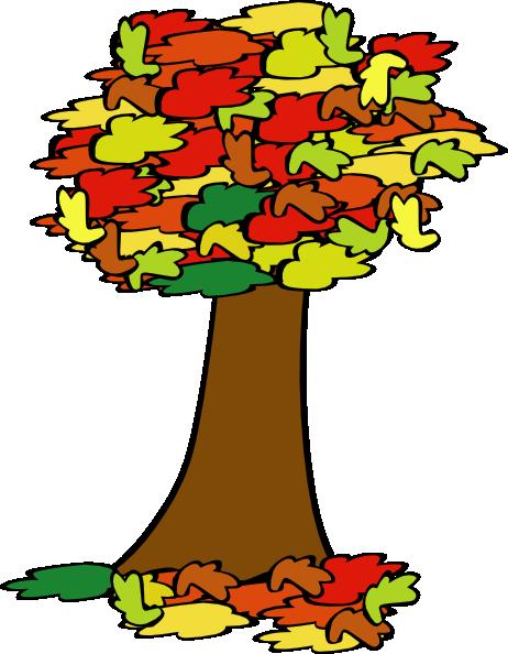 Fall Coloured Tree Clip Art at Clker.com.