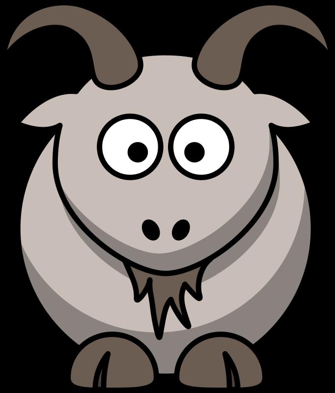 Free Clipart: Cartoon goat.