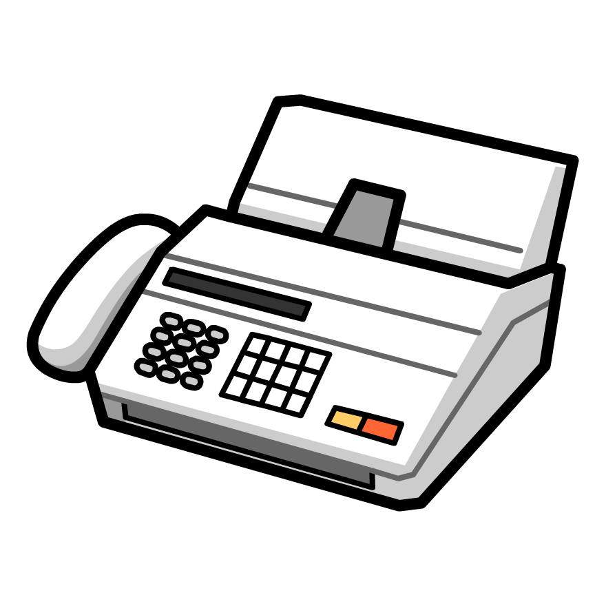 Fax Machine Clipart Black And White.