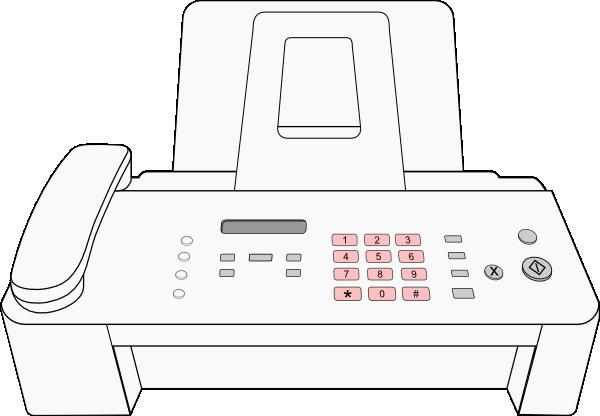 Modern Fax Machine Clip Art at Clker.com.