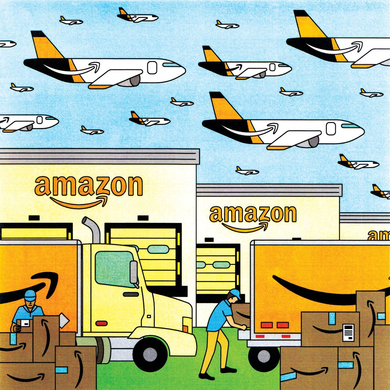 How Amazon\'s Shipping Empire Is Challenging UPS and FedEx.