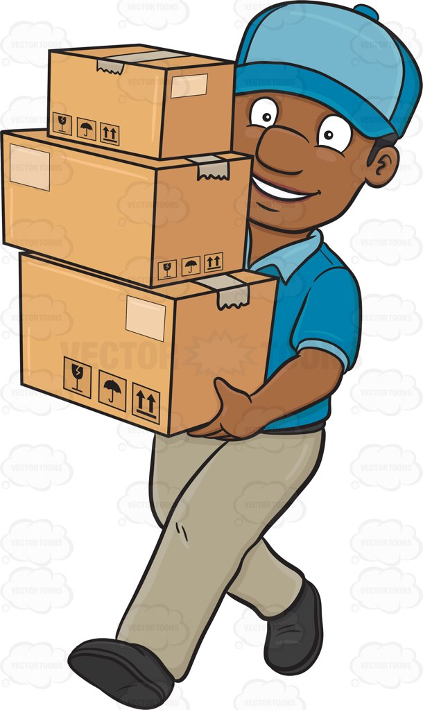 Delivery Man Clipart.