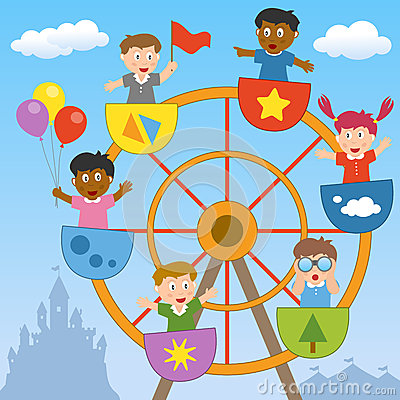 Abstract Ferris Wheel Infographics Royalty Free Stock Photography.
