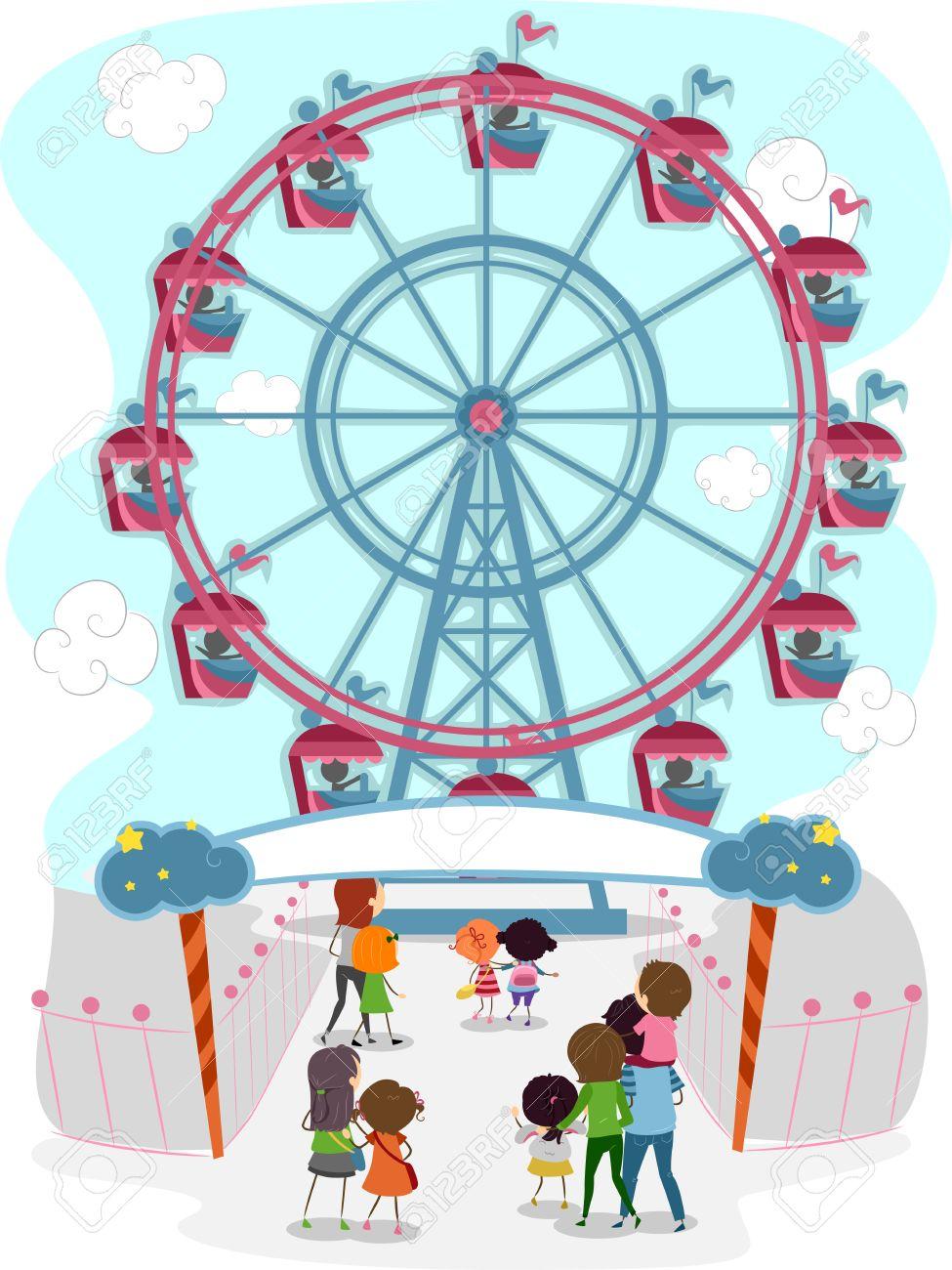 Showing post & media for Cartoon ferris wheel carnival rides.
