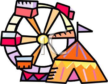 Circus Big Top and Ferris Wheel.