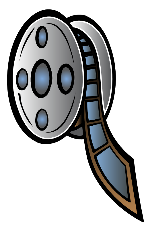 Movie reel animated film clip art dromgcg top.