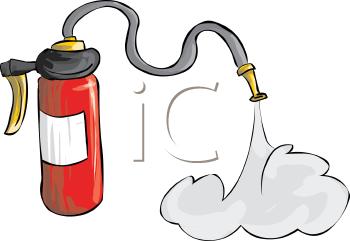 Cartoon Fire Extinguisher.