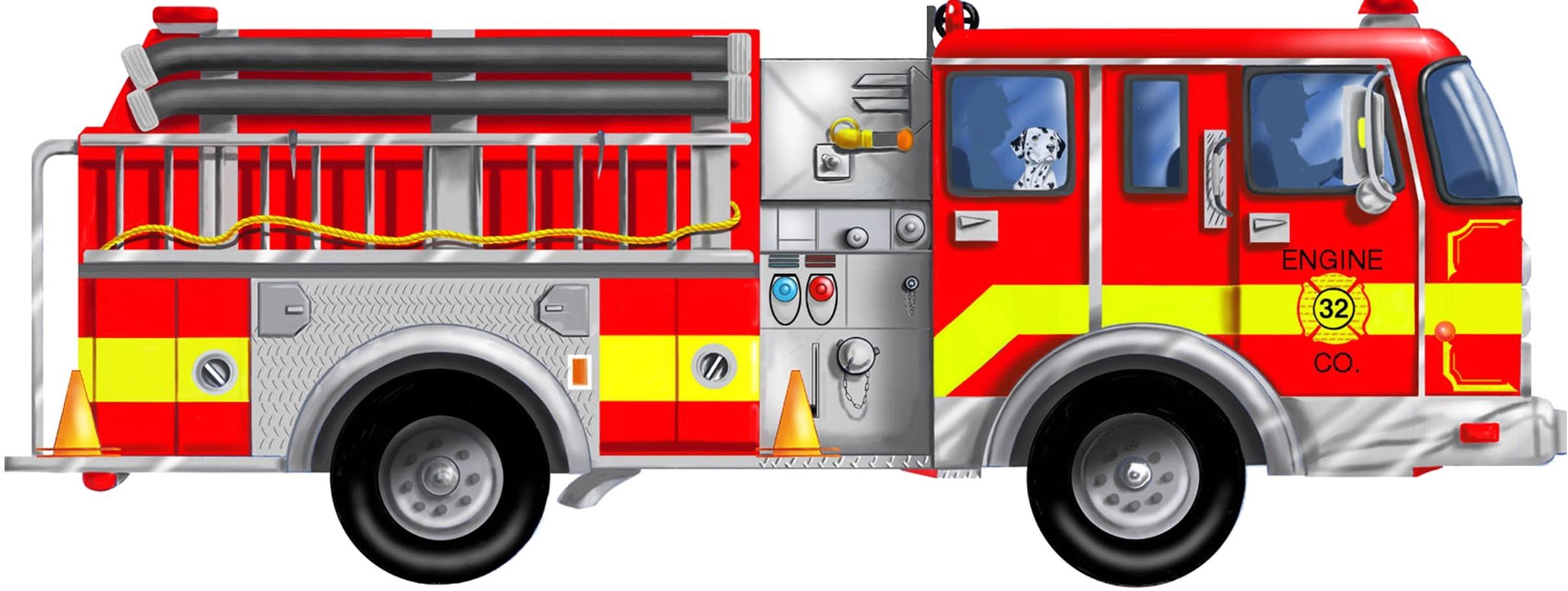 61+ Clipart Fire Truck.
