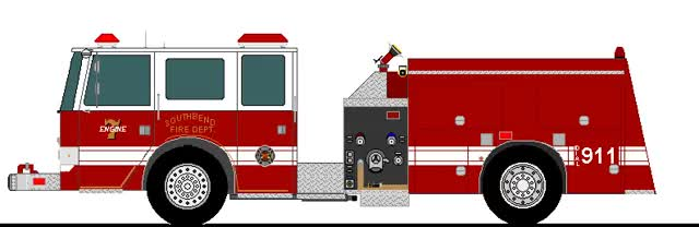 Animated Fire Truck 2 by Atk19380 GIF.