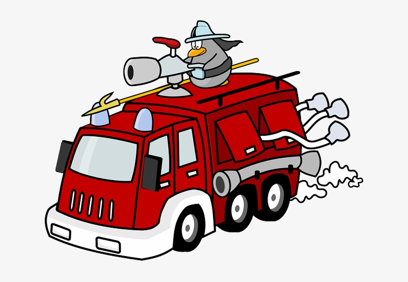 Fire Truck Clipart Animation.