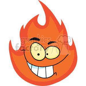cartoon fireball clipart. Royalty.