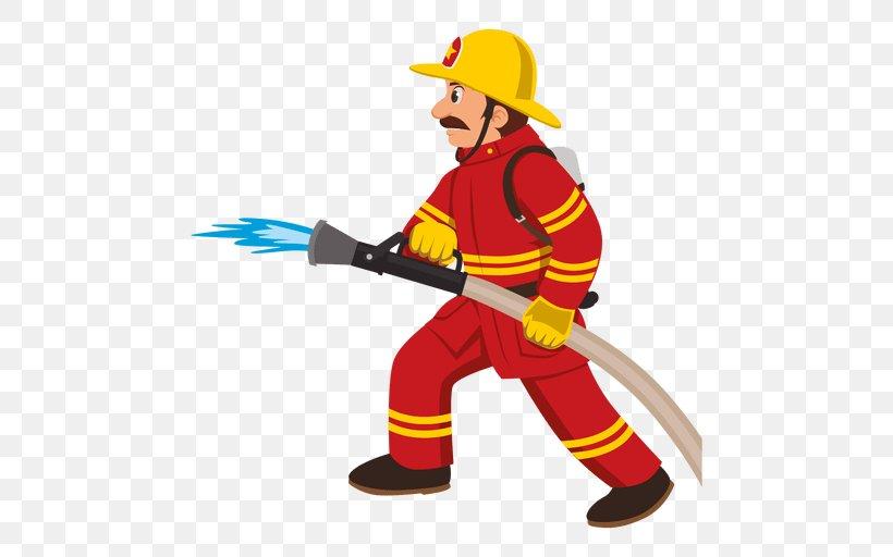 Firefighter Cartoon Fire Department Clip Art, PNG, 512x512px.
