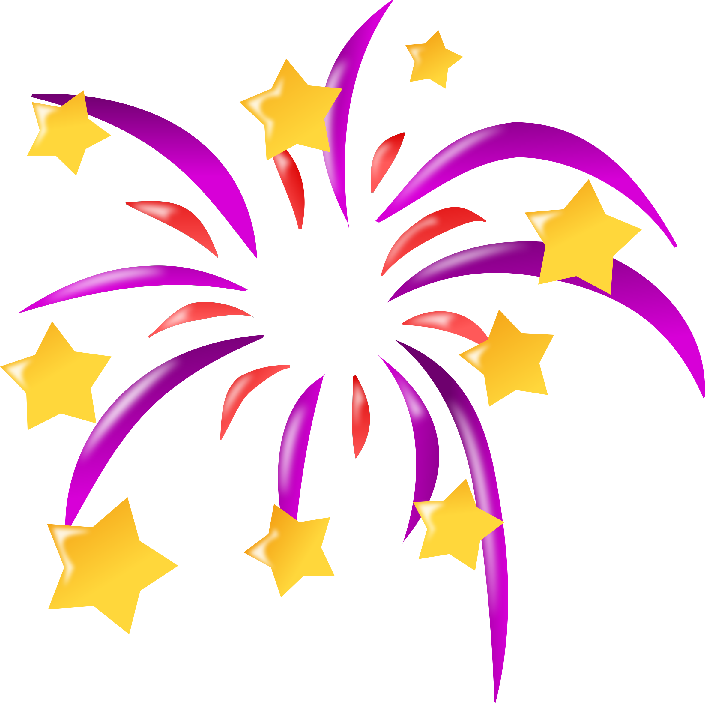 Firework Cartoon Clipart.
