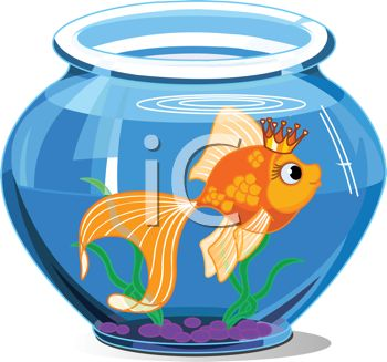 Fish In The Bowl Clipart.