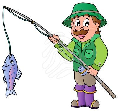 Fisherman Clipart.