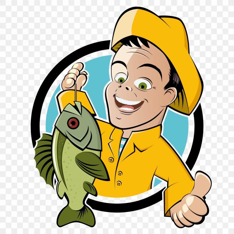 Fishing Cartoon Fisherman Clip Art, PNG, 1191x1191px.