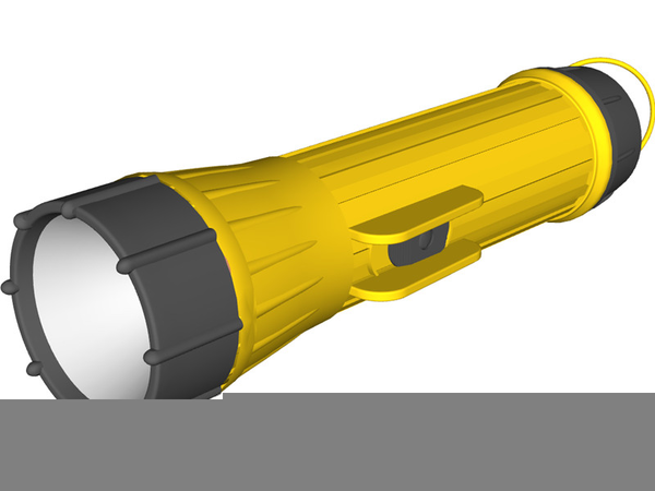 Animated Flashlight Clipart.