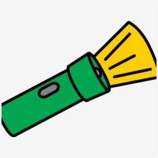 Yellow Clipart Flashlight , Transparent Cartoon, Free.