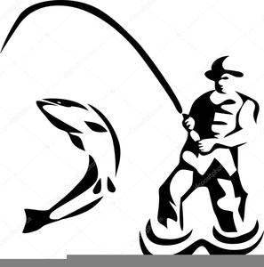 Animated Fly Fishing Clipart.