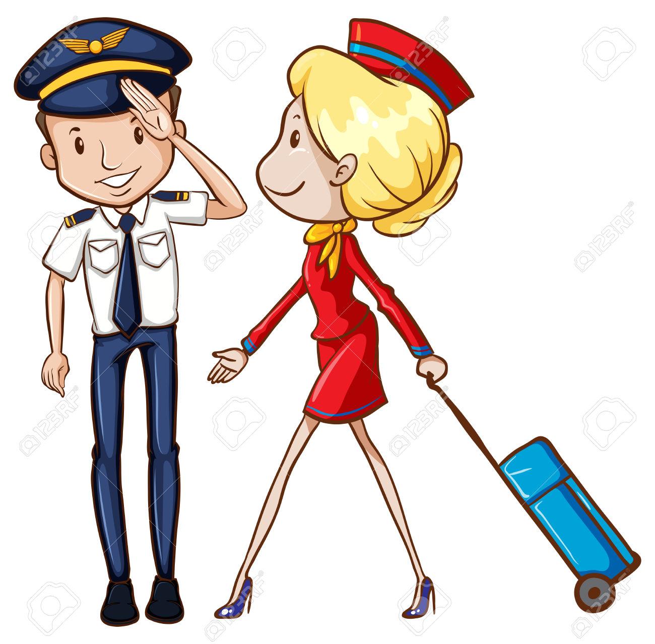 Showing post & media for Male flight attendant cartoon.