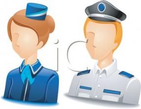 Flight Attendant Cartoon Clipart.