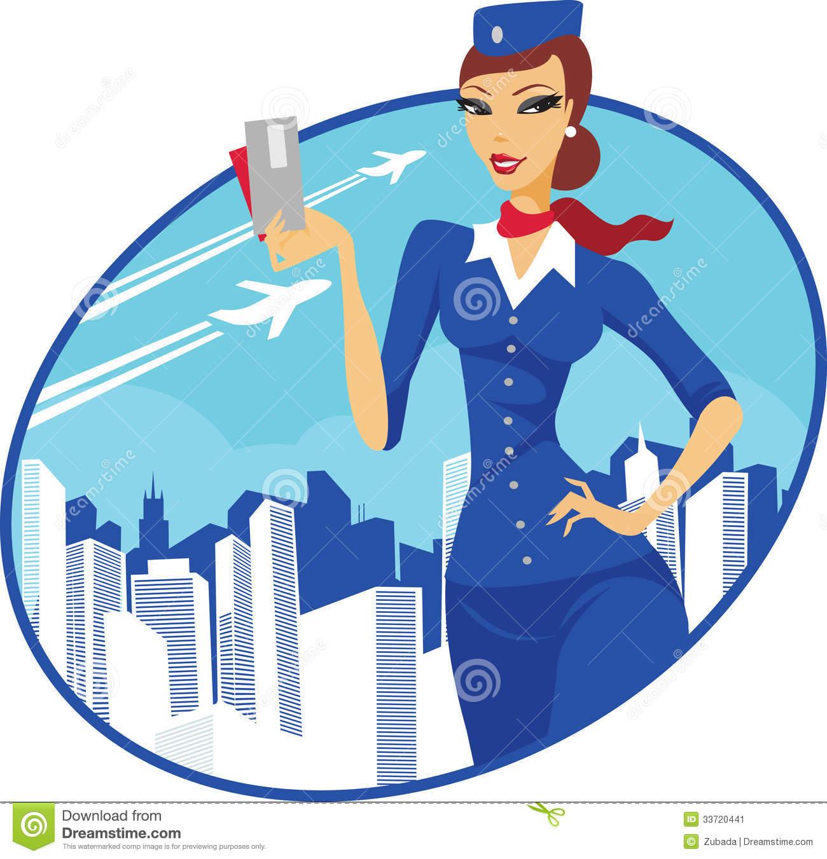 Flight Attendnat Clipart.