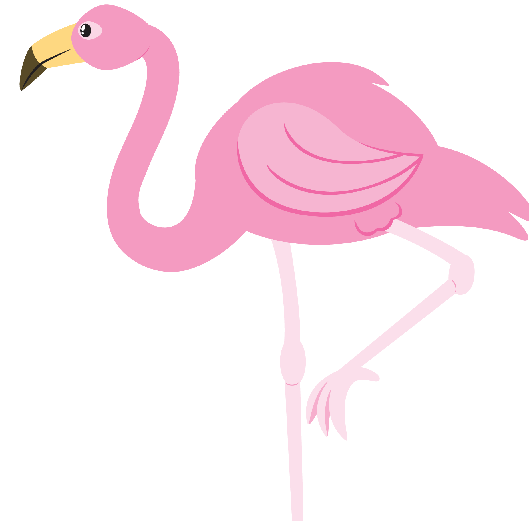 Flamingo Transparent PNG Clipart, Cute Flamingo, Pink.