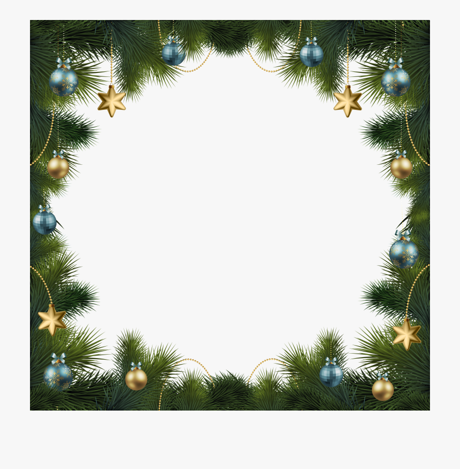 Holiday Border Ornaments Png.