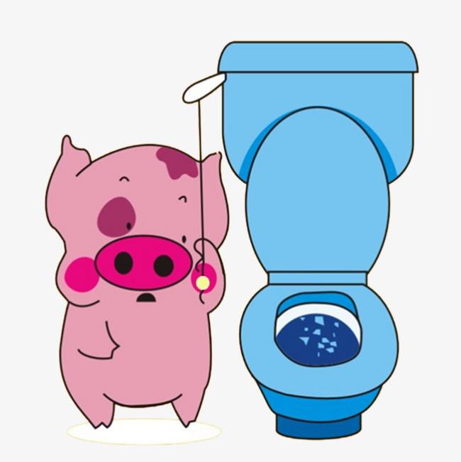 Toilet Cartoon Clipart.