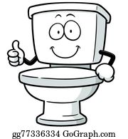 Flush Toilet Clip Art.
