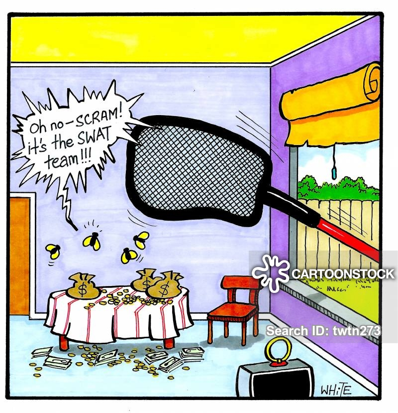 Fly Swatting Cartoons and Comics.