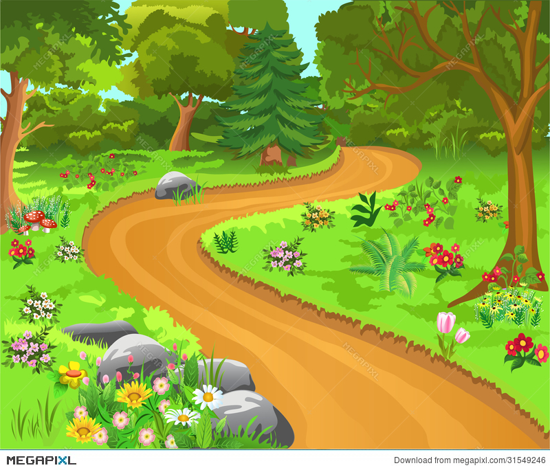 Magical Forest Clipart.