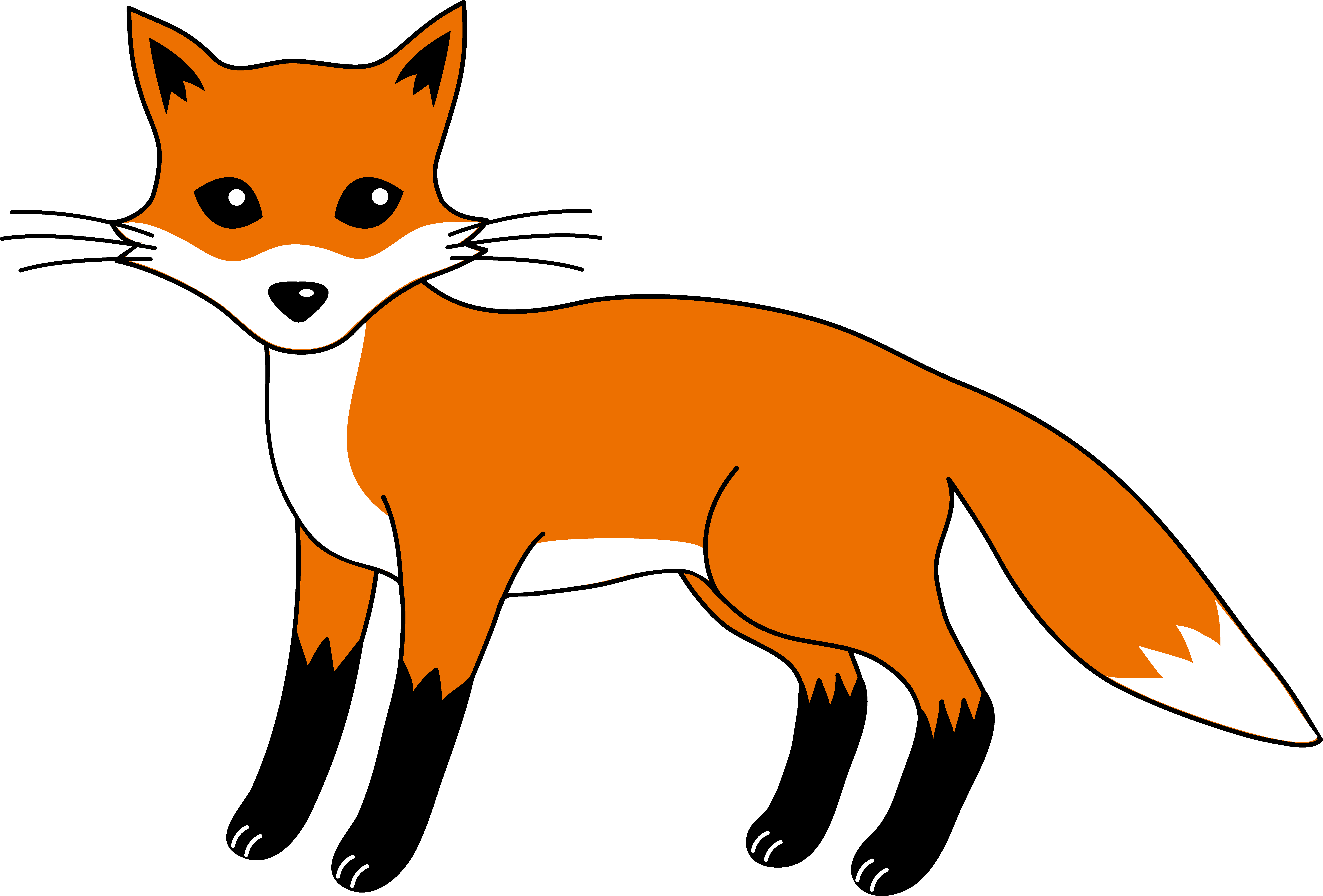 Download High Quality fox clipart cartoon Transparent PNG.