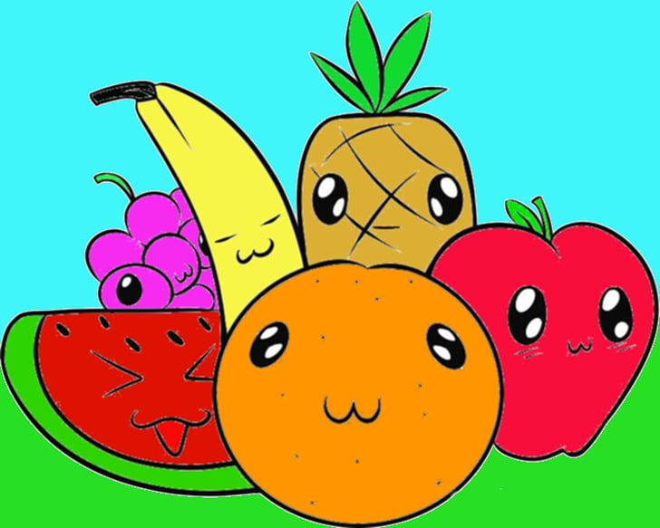 Fruit Animation Cartoon , Animated Fruit s PNG clipart.