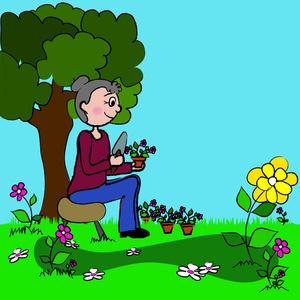 Animated Gardening Clipart.