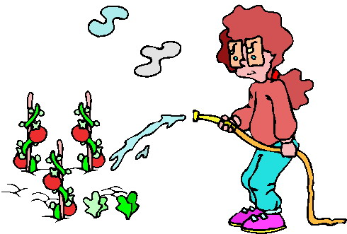 Animated Gardening Clipart.