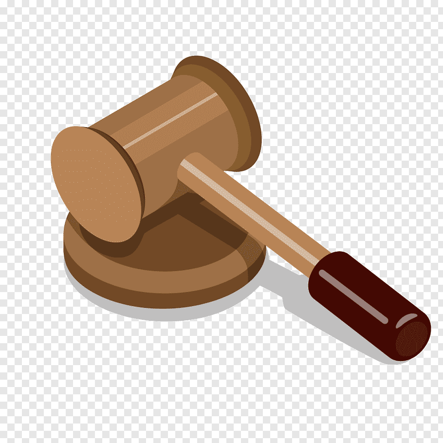 Brown gavel illustration, Judge Hammer Gavel, Cartoon gray.