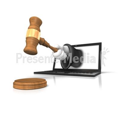 Online Justice Gavel.