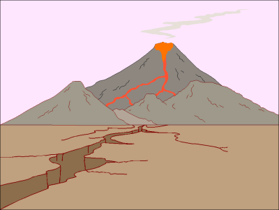 Volcano free geography clipart free clipart images graphics.